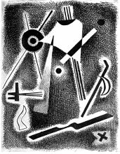 Chaim Koppelman c. 1942  abstract, gift to Guggenheim