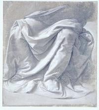 Leonardo da Vinci, Study of Drapery