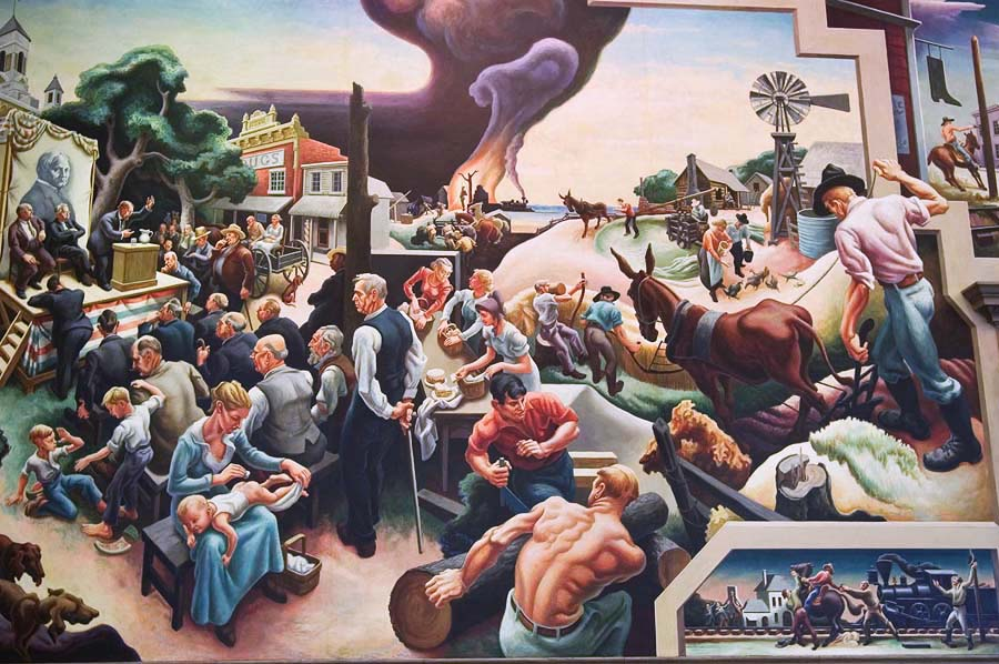 Thomas Hart Benton, Missouri State Capitol building mural
