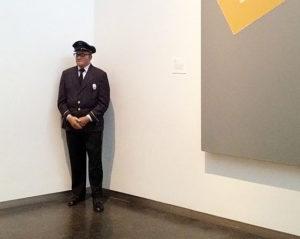 duane hanson, museum guard