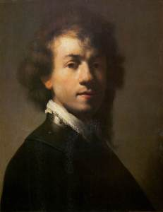 Rembrandt, self-portrait, c. 1629
