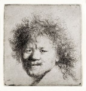 Rembrandt, self-portrait, c. 1631, etching
