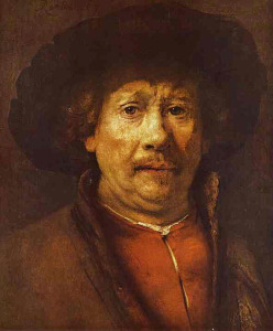 Rembrandt, self-portrait, c. 1655