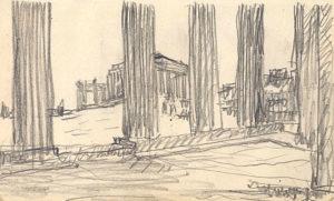 Le Corbusier sketch of Parthenon