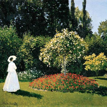 "Monet, ""Young Woman in a Garden"""