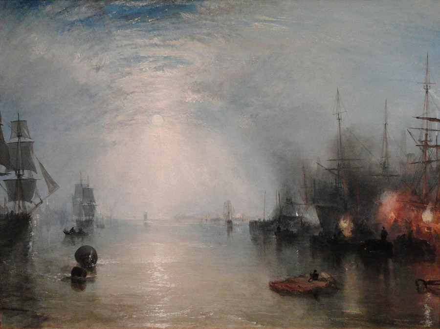 J.M.W. Turner, Keelmen Heaving in Coals by Moonlight