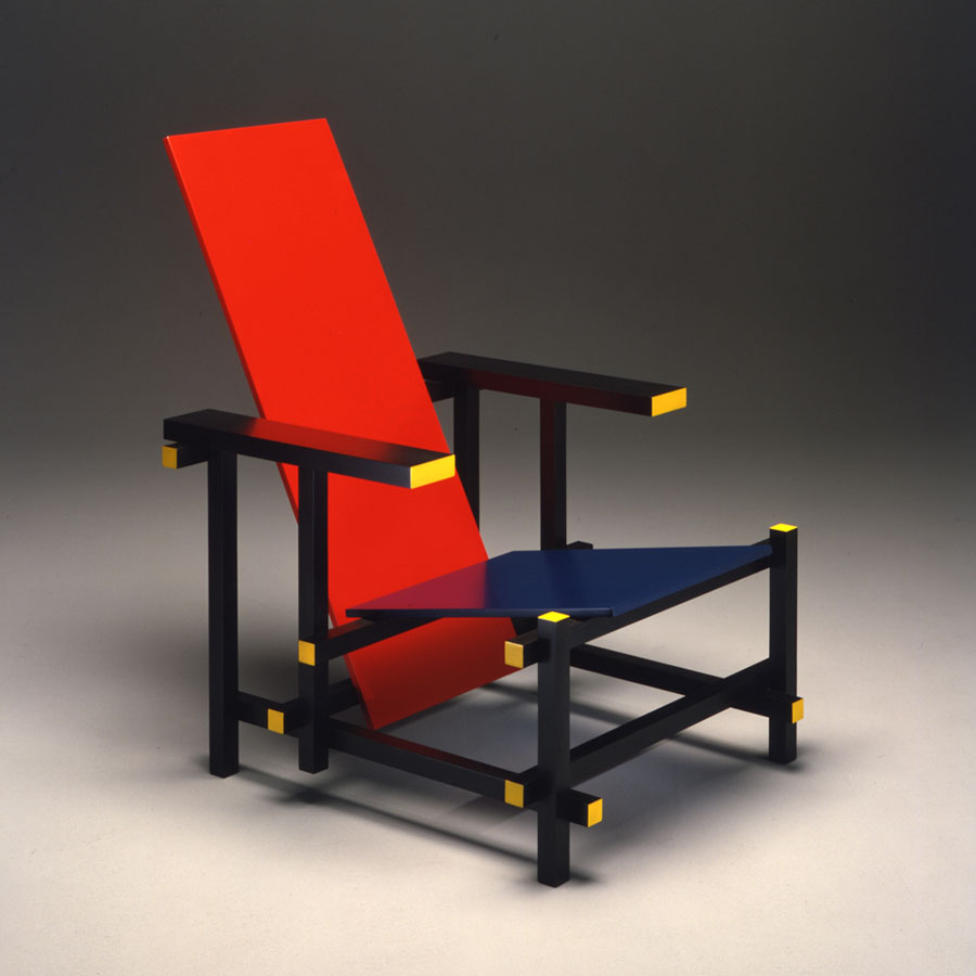 "Gerrit Rietveld, ""Red and Blue"" chair"