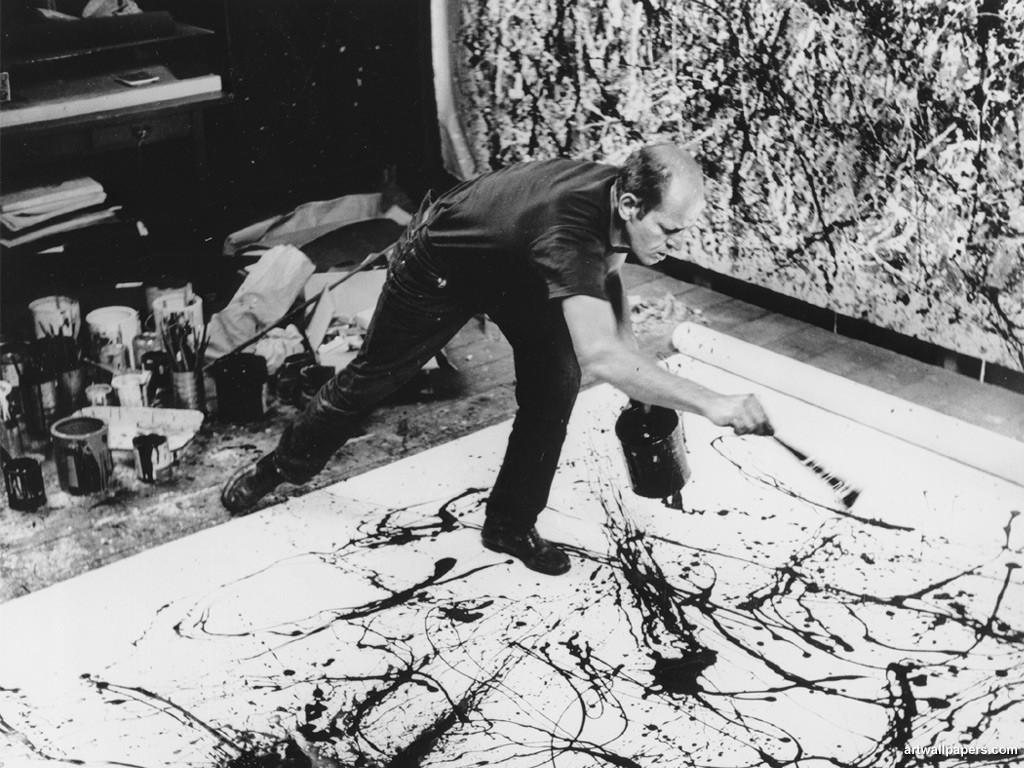 Jackson Pollock, action painting
