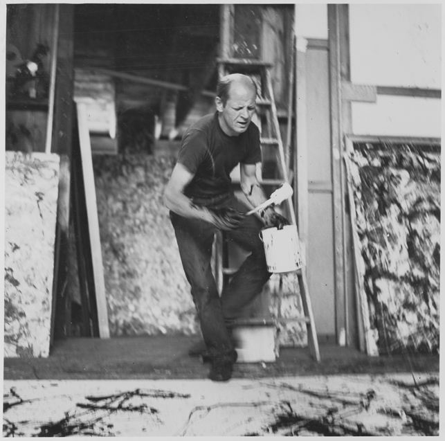 Jackson Pollock painting. Photo by Hans Namuth