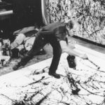 Jackson Pollock, painting. Photo by Hans Namuth