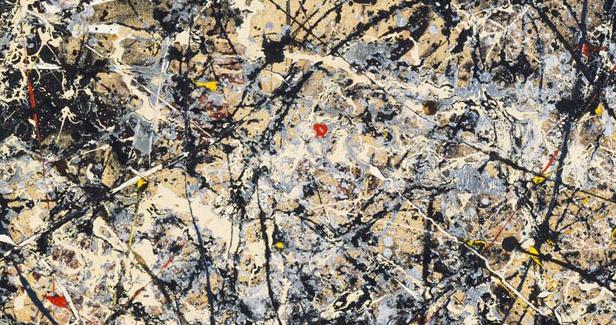 Jackson Pollock, Number 1, 1948, detail
