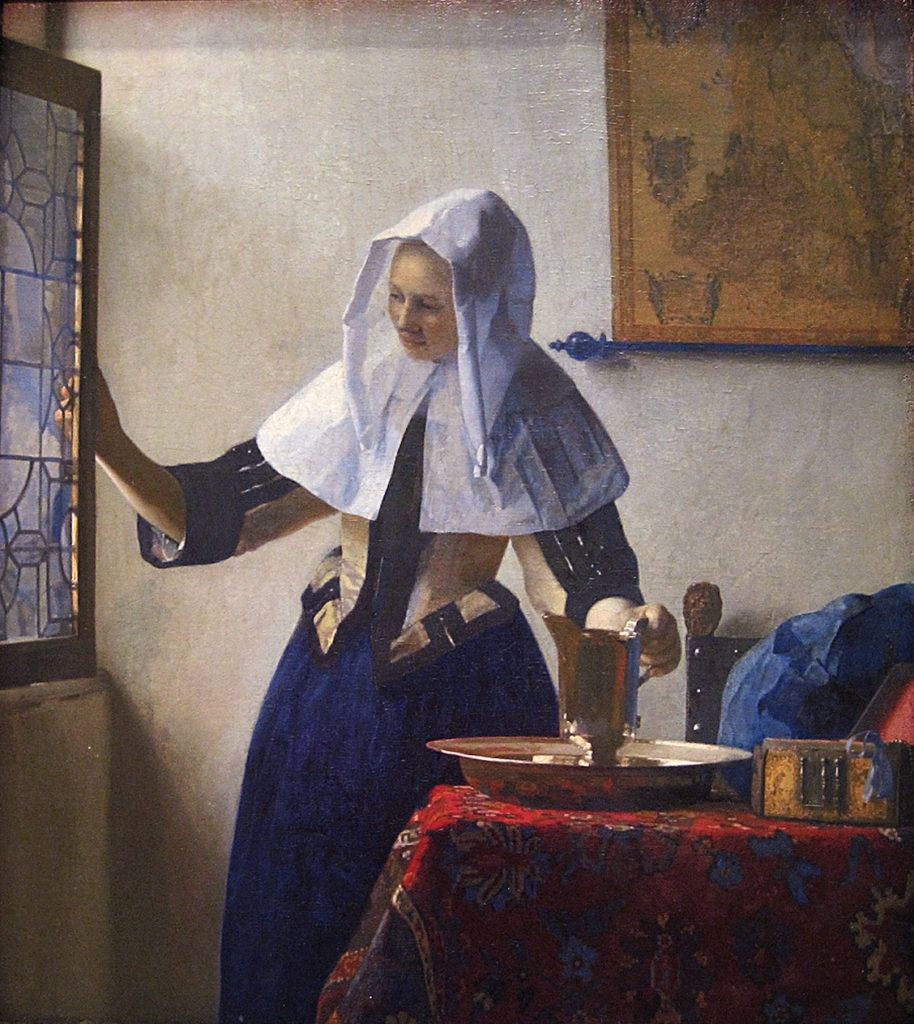 Johannes Vermeer, Young Woman with a Water Pitcher