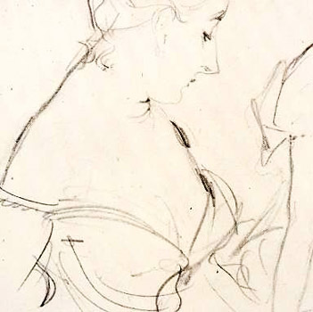 Sargent, sketch for Madame X