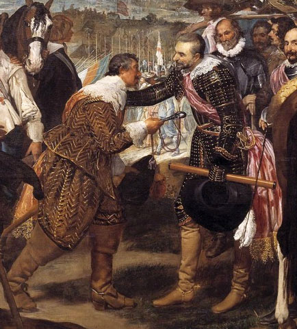 Velazquez, The Surrender of Breda, detail