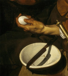Velazquez, Old Woman Cooking Eggs, detail