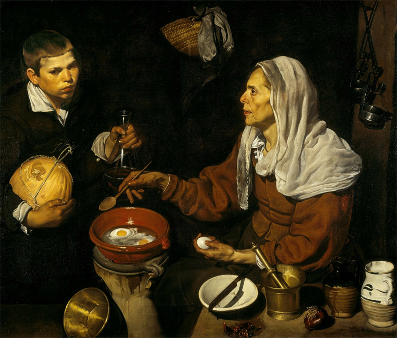 Velazquez, old woman cooking eggs