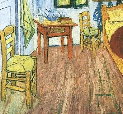 Bedroom at Arles, 1888, detail