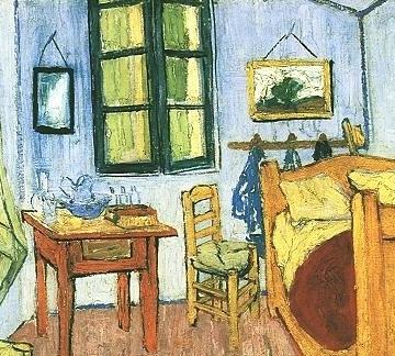 Bedroom at Arles, 1888, detail