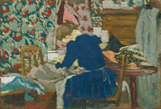 Vuillard-Interior-Marie-leaning-over-her-work