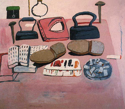 "Philip Guston, ""Painter's Table"""
