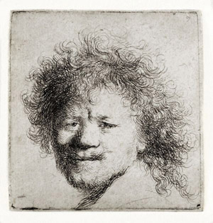 Rembrandt self-portrait c 1631 etching