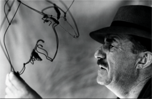 Léger and Calder's wire portrait of him