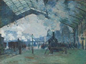 Monet, Arrival of Normandy Train, Gare Saint-Lazarre, 1877