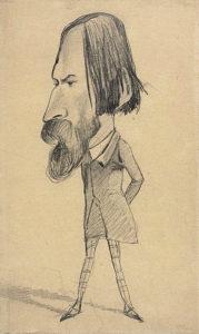 Monet, August Vacquerie, c. 1854