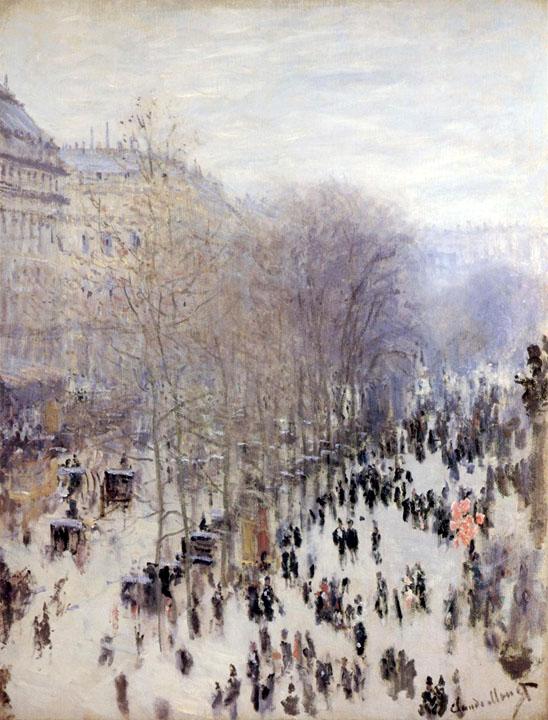 Monet, Boulevard des Capucines,1873