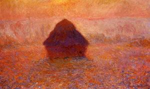 Monet, Grainstack, Sun in the Mist