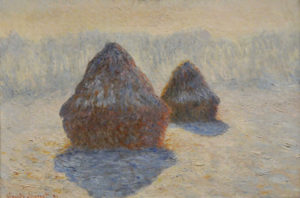 Monet, Haystacks, Effect of Snow and Sun