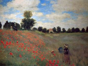 Monet, Poppies Near Argenteuil, 1873