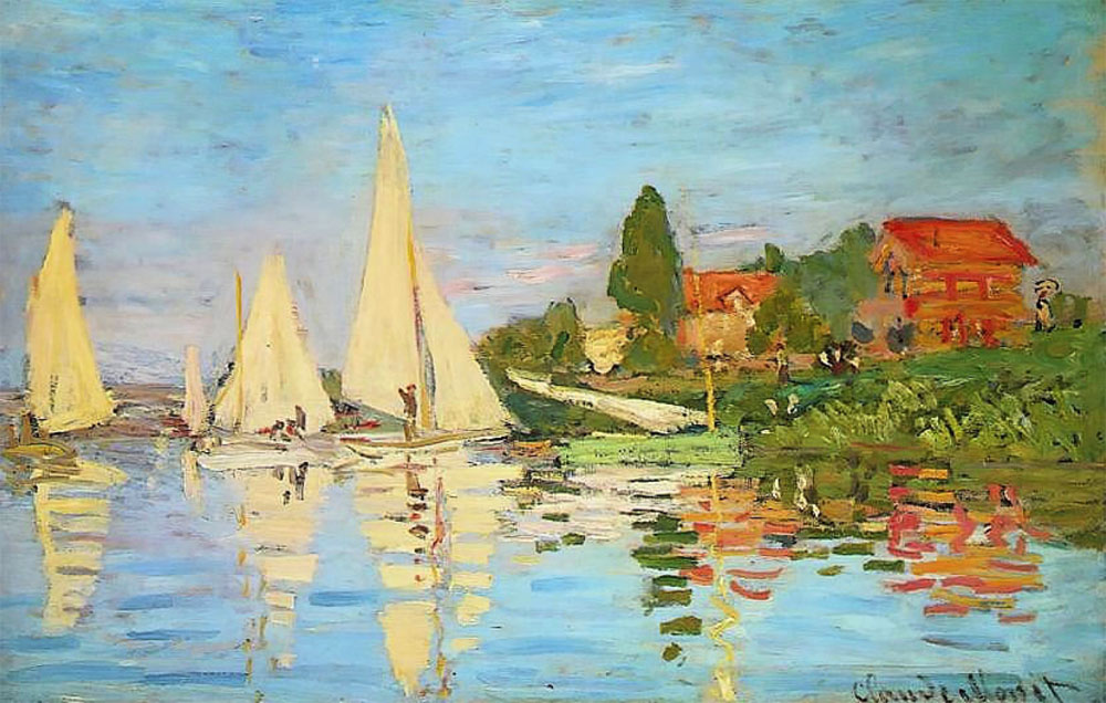 Monet, Regatta at Argenteuil, 1872