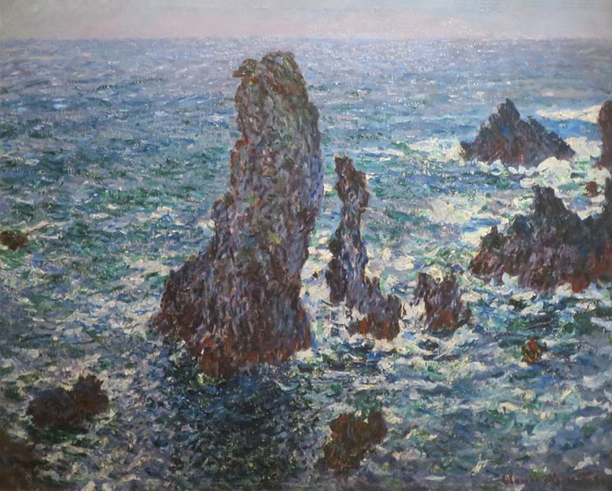 Monet, Rocks a Belle Ile, Brittany coast