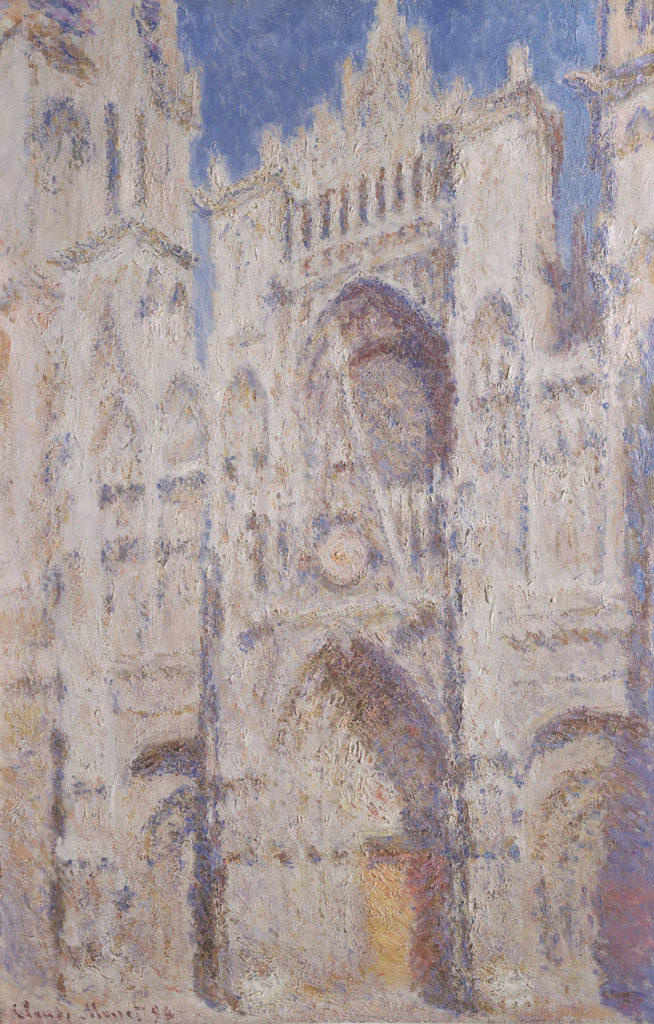Monet, Rouen Cathedral, The Portal, sunlight