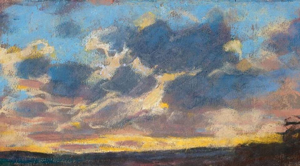 Monet, Sunset, Musee des Beaux Arts de Nantes