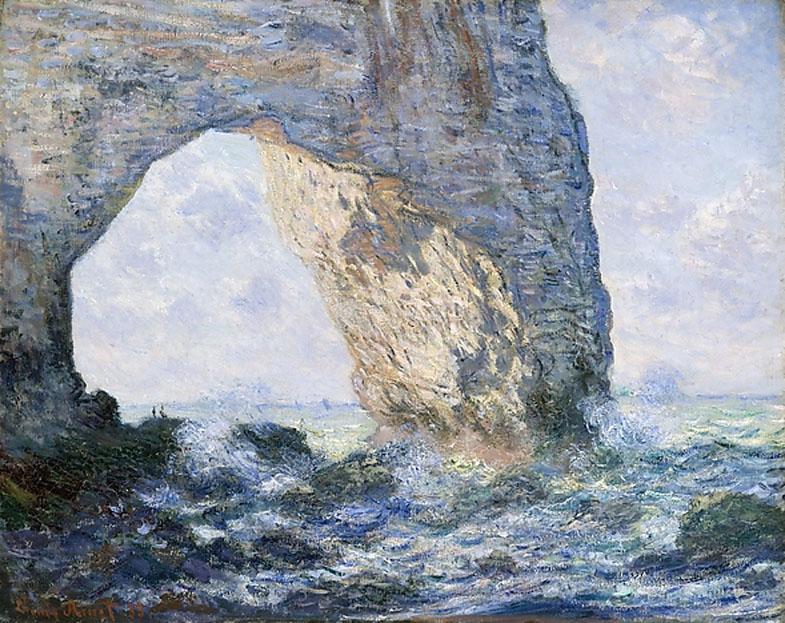 Monet, The Manneport (Étretat)