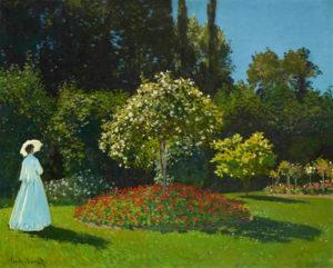 Monet, Young Woman in a Garden, 1867