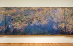 Monet, Reflections of Clouds on the Water-Lily Pond, center panel