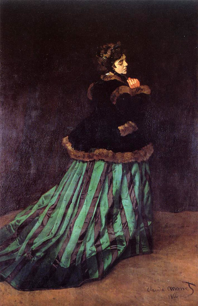 Monet, Camille, or Woman in a Green Dress, 1866