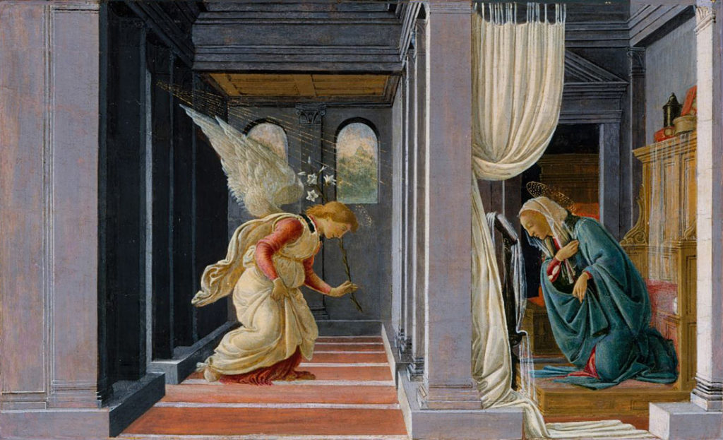 Botticelli, The Annunciation, 1485, Metropolitan Music of Art, New York