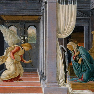 "Botticelli, ""The Annunciation"""