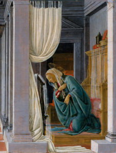 Botticelli, The Annunciation, detail