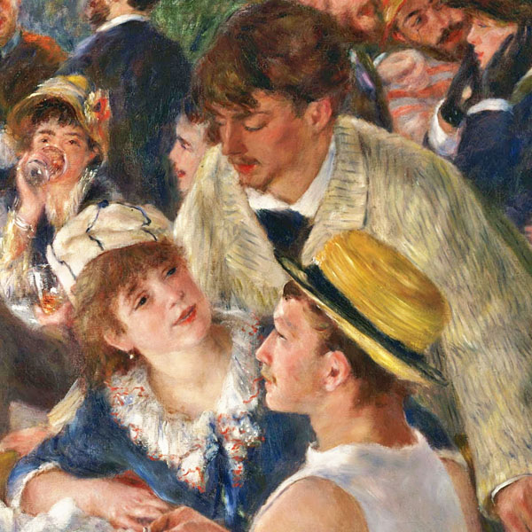 "Renoir's ""Luncheon of the Boating Party"" (detail)"
