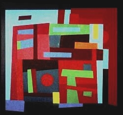 """Work by Ad Reinhardt from Terrain Gallery show """"Abstract / Concrete"""""""