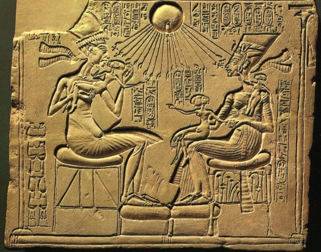 Amarna period, Akhenaten, Nefertiti and three of their Daughters