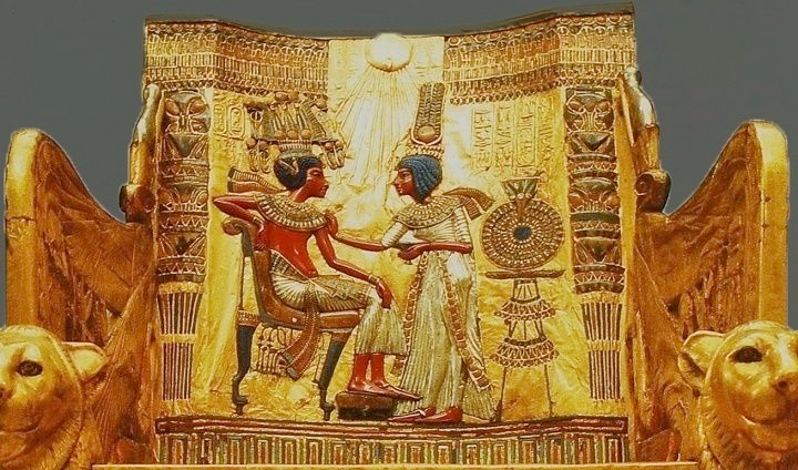 Throne from Tutankhamun's tomb