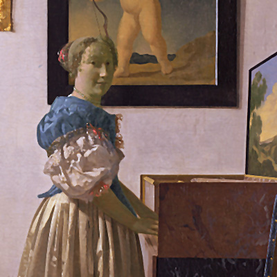 Vermeer, Young Woman Standing at a Virginal