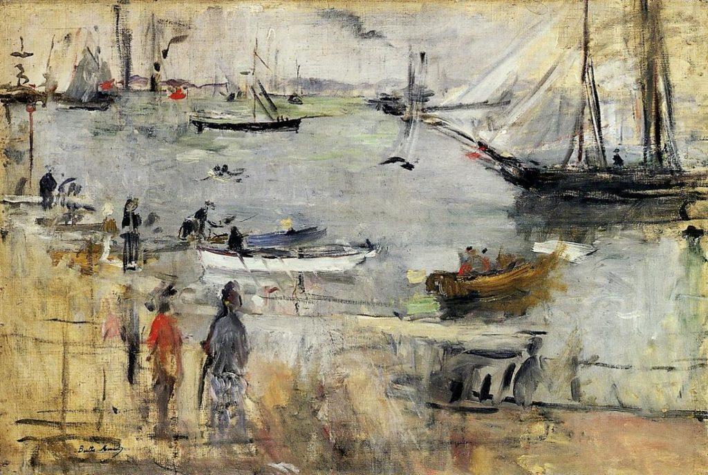 Berthe-Morisot-Harbor-Scene-Isle-of-Wight-1875