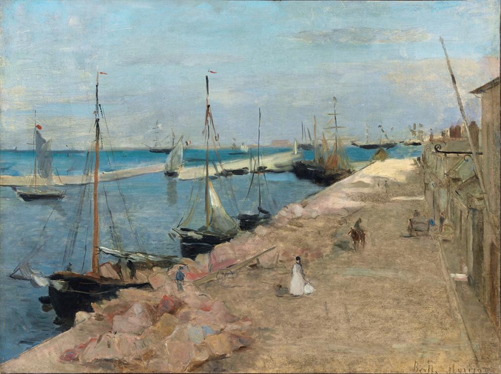 Berthe Morisot-Harbor at Cherbourg, 1871